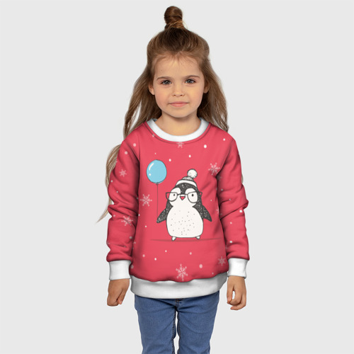 Детский свитшот 3D Пингвин с шариком Фото 01