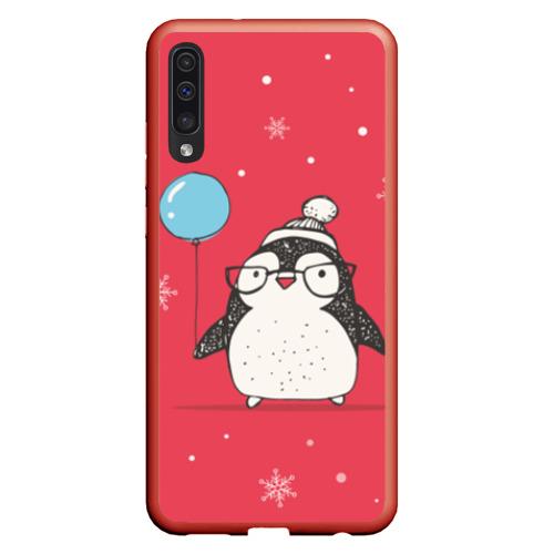 Чехол для Samsung A50 Пингвин с шариком Фото 01