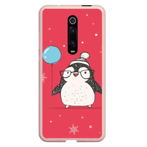 Чехол для Xiaomi Redmi Mi 9T Пингвин с шариком Фото 01