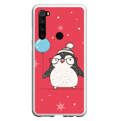 Чехол для Xiaomi Redmi Note 8 Пингвин с шариком Фото 01