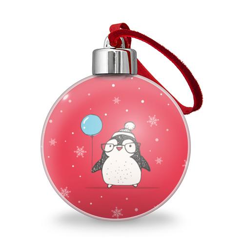 Ёлочный шар  Фото 01, Пингвин с шариком