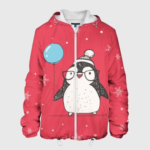 Мужская куртка 3D  Фото 01, Пингвин с шариком