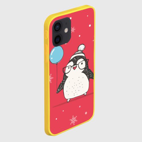 Чехол для iPhone 12 Pro Mini Пингвин с шариком Фото 01