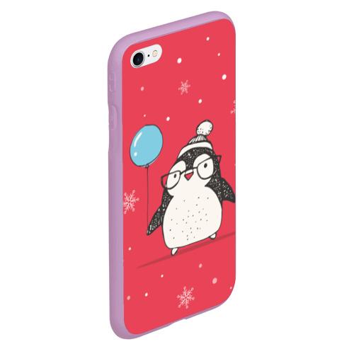 Чехол для iPhone 6Plus/6S Plus матовый Пингвин с шариком Фото 01