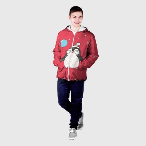 Мужская куртка 3D Пингвин с шариком Фото 01