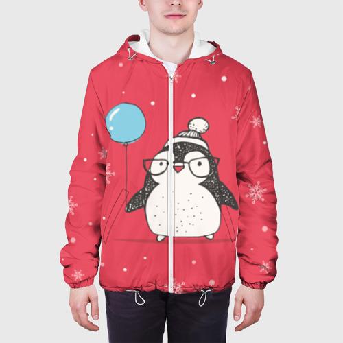 Мужская куртка 3D  Фото 04, Пингвин с шариком