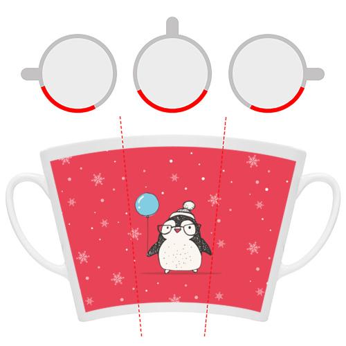 Кружка Латте Пингвин с шариком Фото 01