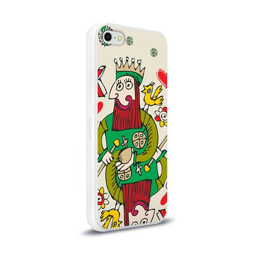 Чехол для Apple iPhone 5/5S силиконовый глянцевый  Фото 02, Червовый король