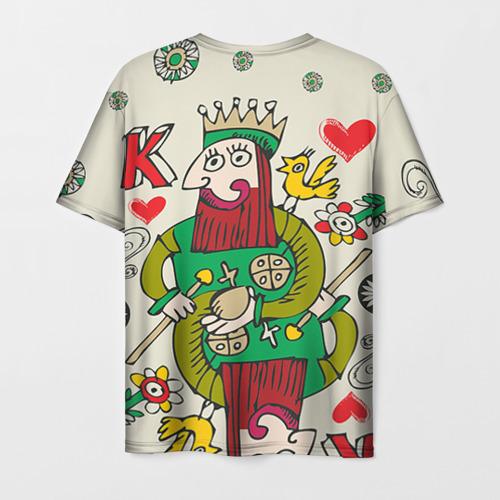 Мужская футболка 3D Червовый король Фото 01