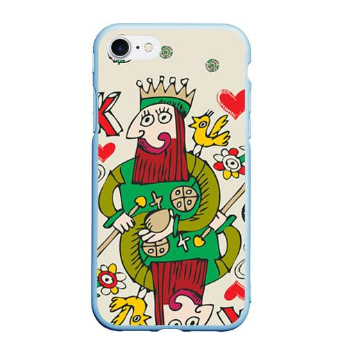 Чехол для iPhone 7/8 матовый Червовый король Фото 01