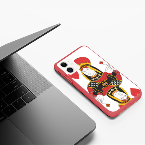 Чехол для iPhone 11 матовый Дама Фото 01