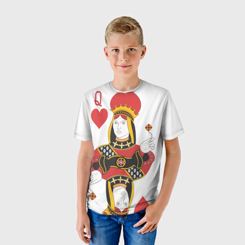 Детская футболка 3D Дама