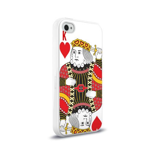 Чехол для Apple iPhone 4/4S силиконовый глянцевый  Фото 02, Король