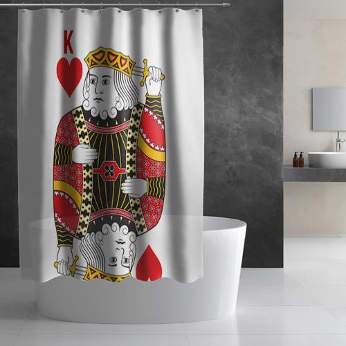 Штора 3D для ванной  Фото 02, Король