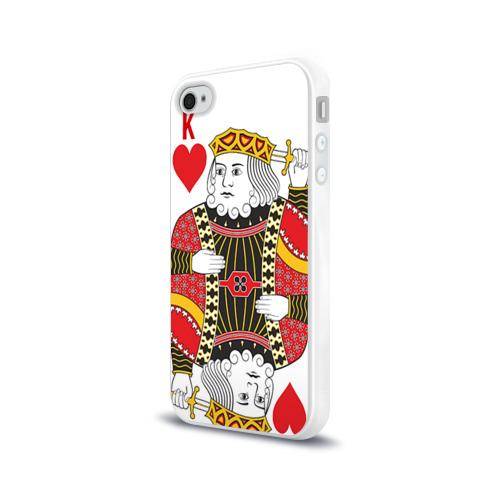 Чехол для Apple iPhone 4/4S силиконовый глянцевый  Фото 03, Король