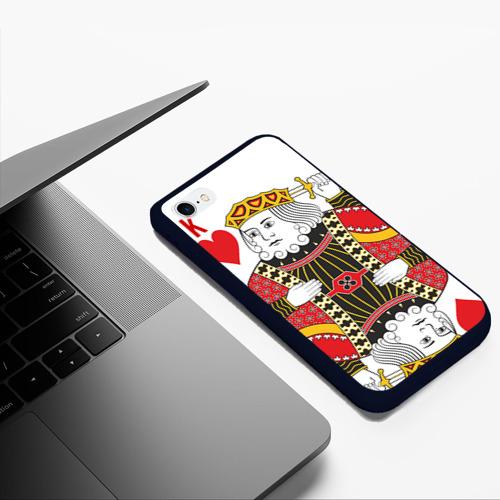 Чехол для iPhone 6Plus/6S Plus матовый Король Фото 01
