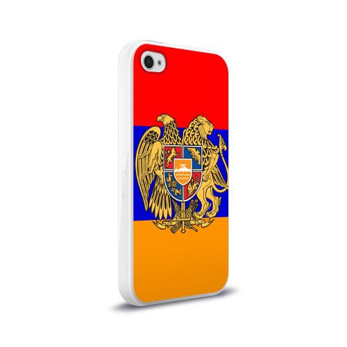 Чехол для Apple iPhone 4/4S силиконовый глянцевый  Фото 02, Герб и флаг Армении