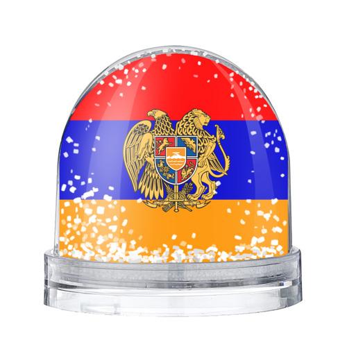 Водяной шар со снегом Герб и флаг Армении