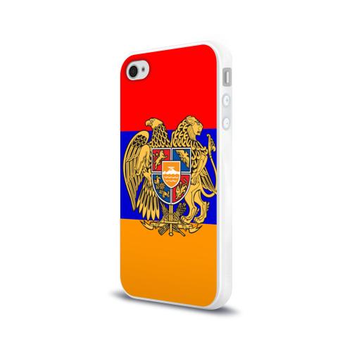 Чехол для Apple iPhone 4/4S силиконовый глянцевый  Фото 03, Герб и флаг Армении