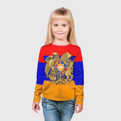 Детский лонгслив 3D  Фото 03, Герб и флаг Армении