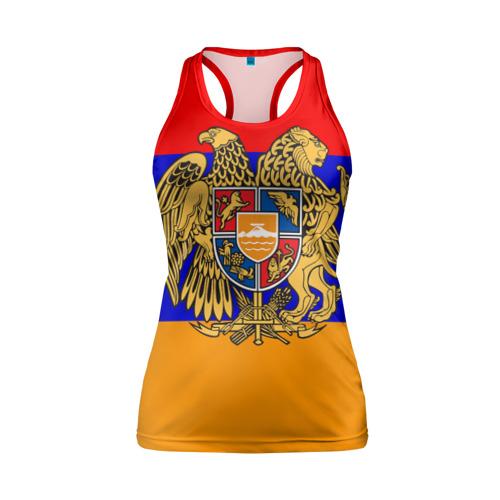 Женская майка 3D спортивная Герб и флаг Армении