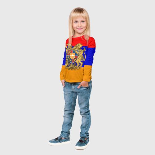 Детский лонгслив 3D  Фото 04, Герб и флаг Армении