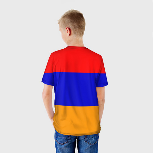 Детская футболка 3D  Фото 02, Герб и флаг Армении