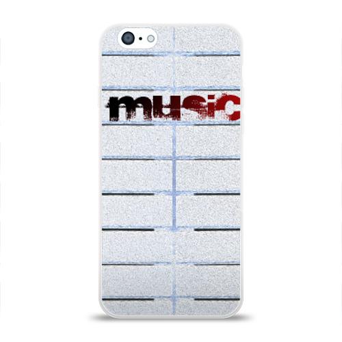 Чехол для Apple iPhone 6 силиконовый глянцевый  Фото 01, Music