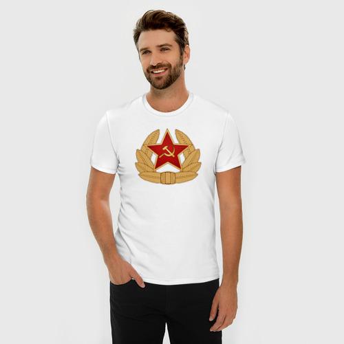 Мужская футболка премиум  Фото 03, Кокарда