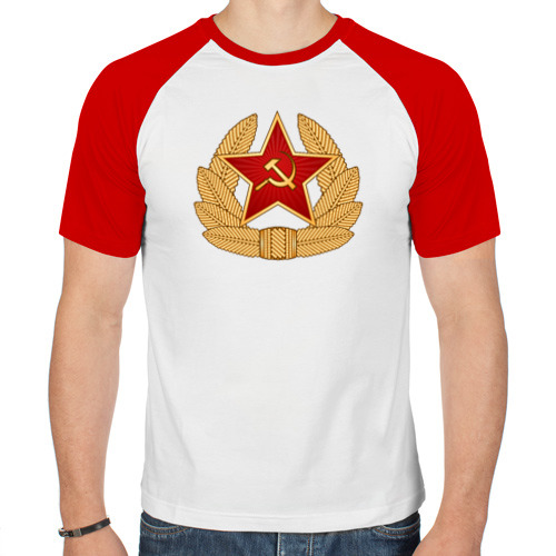 Мужская футболка реглан  Фото 01, Кокарда