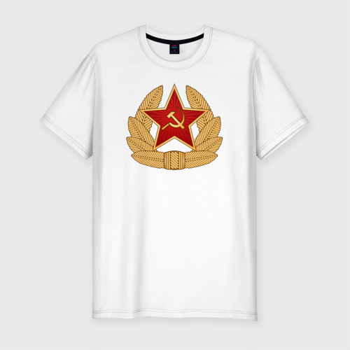 Мужская футболка премиум  Фото 01, Кокарда