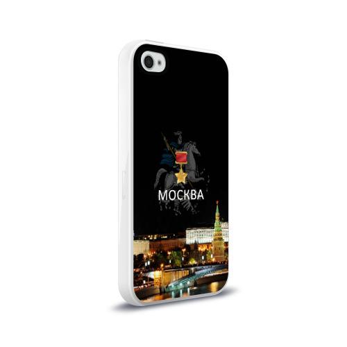Чехол для Apple iPhone 4/4S силиконовый глянцевый  Фото 02, Город-герой Москва