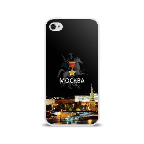 Чехол для Apple iPhone 4/4S силиконовый глянцевый  Фото 01, Город-герой Москва