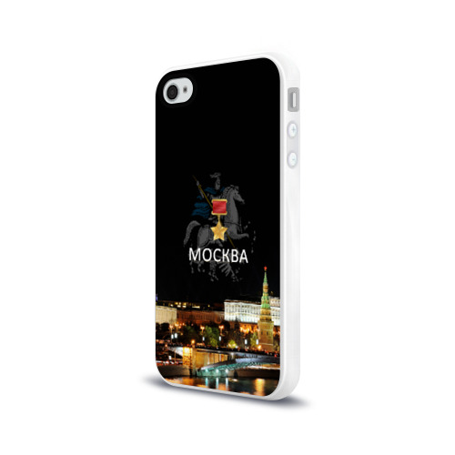 Чехол для Apple iPhone 4/4S силиконовый глянцевый  Фото 03, Город-герой Москва