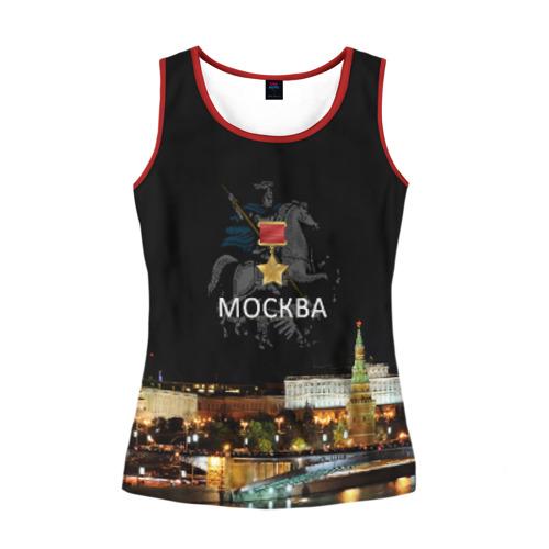 Женская майка 3D Город-герой Москва