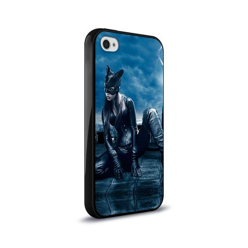 Чехол для Apple iPhone 4/4S силиконовый глянцевый  Фото 02, Кошка