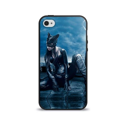 Чехол для Apple iPhone 4/4S силиконовый глянцевый  Фото 01, Кошка