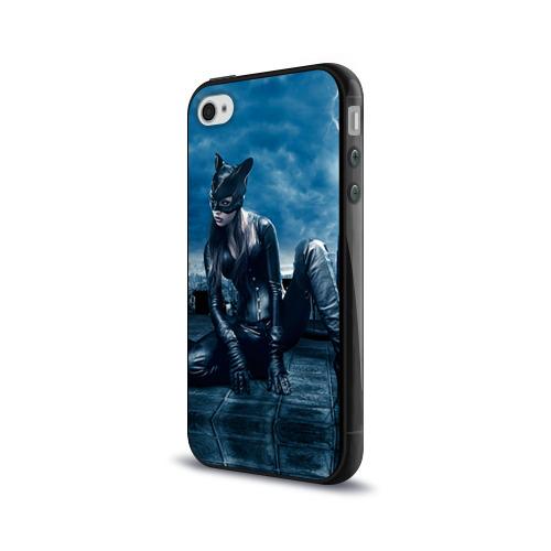 Чехол для Apple iPhone 4/4S силиконовый глянцевый  Фото 03, Кошка