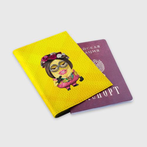 Обложка для паспорта матовая кожа  Фото 03, Дамочка