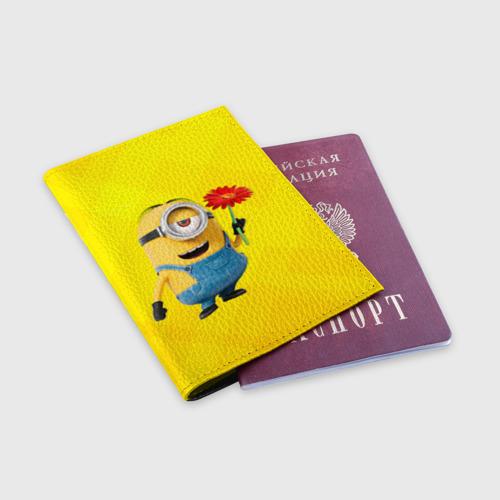 Обложка для паспорта матовая кожа  Фото 03, Цветочек