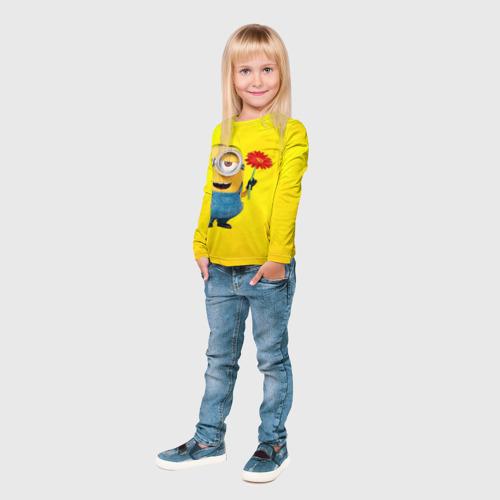 Детский лонгслив 3D  Фото 03, Цветочек