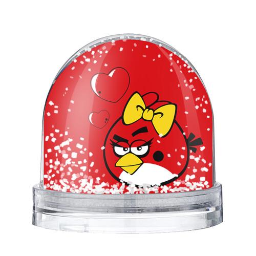 Водяной шар со снегом Птичка