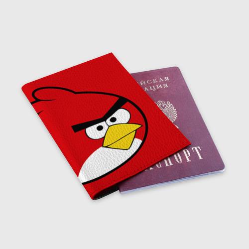 Обложка для паспорта матовая кожа  Фото 03, Птичка