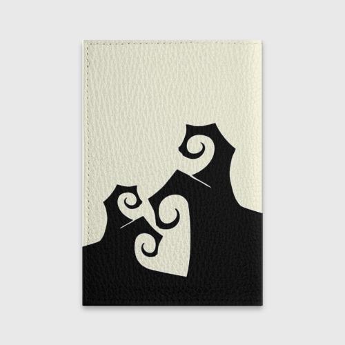 Обложка для паспорта матовая кожа  Фото 02, Кошка