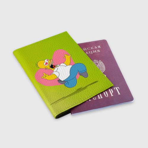 Обложка для паспорта матовая кожа  Фото 03, Гомер