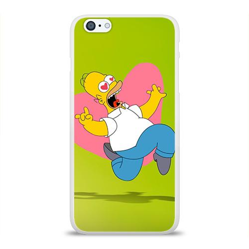 Чехол для Apple iPhone 6Plus/6SPlus силиконовый глянцевый  Фото 01, Гомер