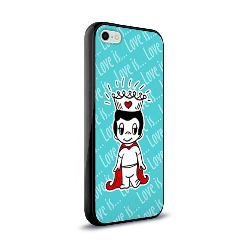 Чехол для Apple iPhone 5/5S силиконовый глянцевый  Фото 02, Love is