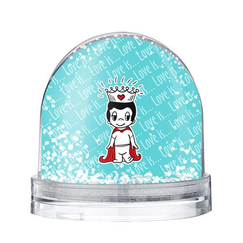 Водяной шар со снегом Love is
