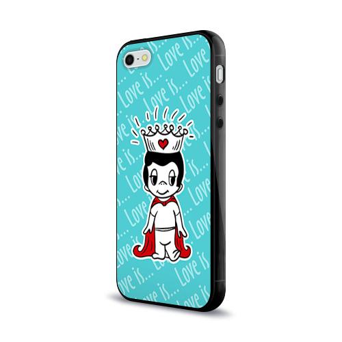 Чехол для Apple iPhone 5/5S силиконовый глянцевый  Фото 03, Love is