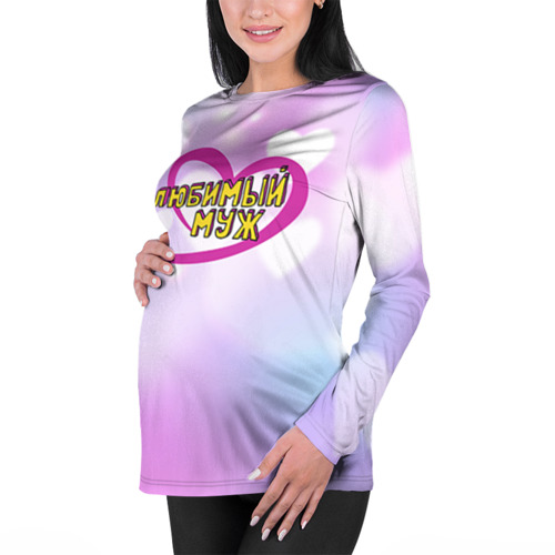 Женский лонгслив 3D для беременных